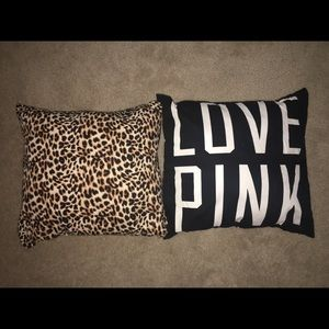 """VS PINK Square Pillows """"LOVE PINK"""""""